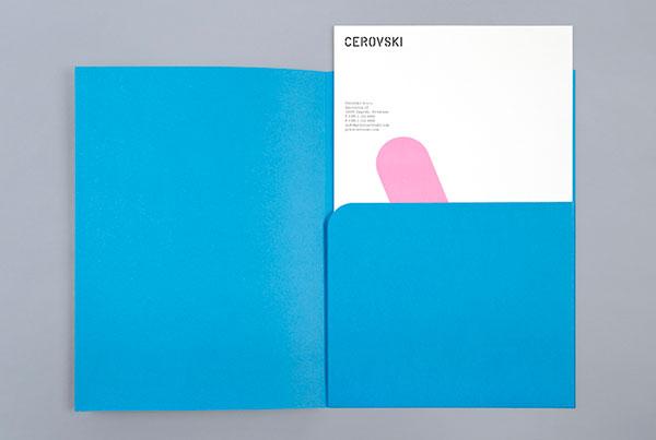 Blue folder designed by Bunch.