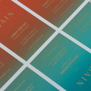 BAIN - Screen Printed Business Cards
