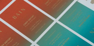 Business cards - clouse up