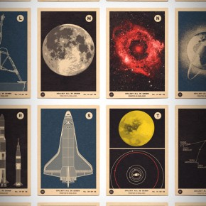 Space and Spacecraft A to Z Print from 67 Inc