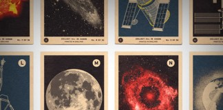 Close up of the Space and Spacecraft A to Z print.