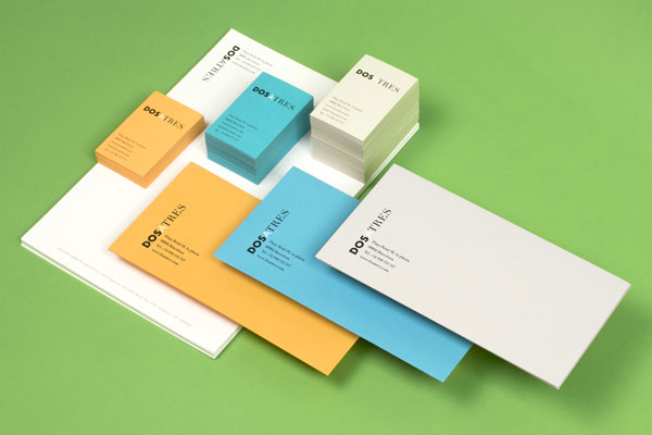 Dosatres stationery design by Comité.