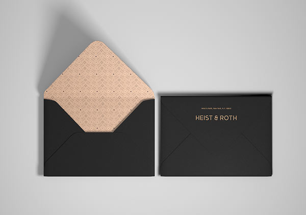 Envelopes based on the corporate design.