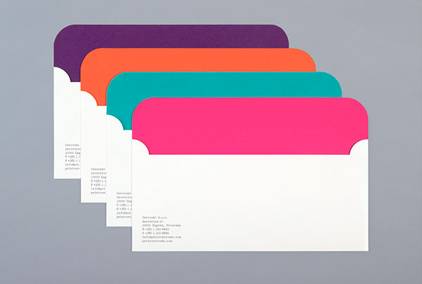 Envelopes with colored insides.