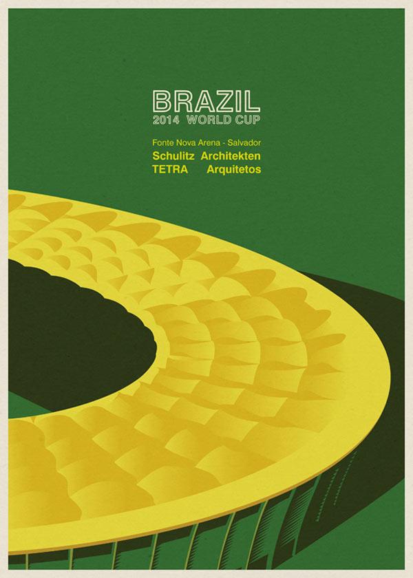 Fonte Nova Arena in Salvador by Schulitz Architekten and TETRA Arquitetos - Brazil 2014 World Cup Stadiums