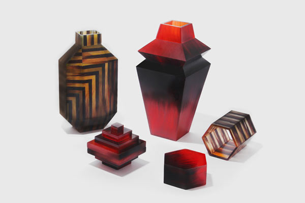 Hair Highway - design accessories made up from human hair and a natural resin.