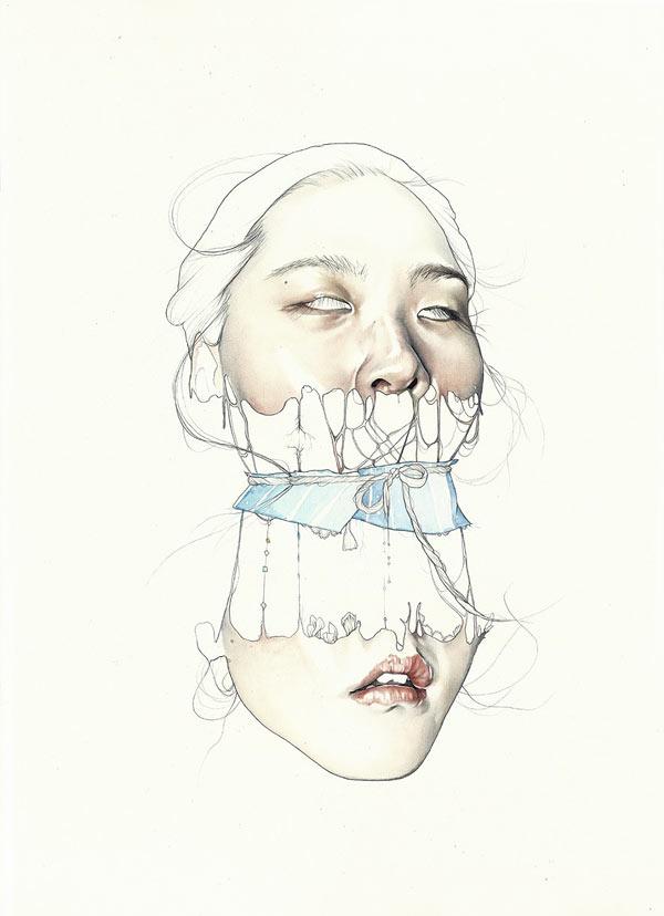 Haejung Lee – Surreal Mixed Media Portraiture