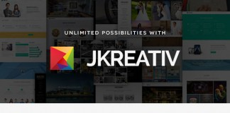 Jkreativ - multi-layer Parallax theme for multiple purpose