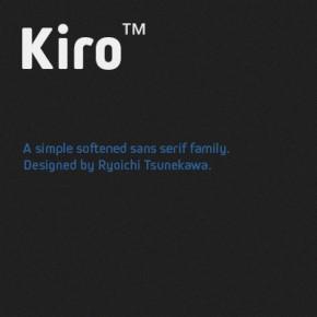 Kiro Font, A Softened Sans-Serif Type Family