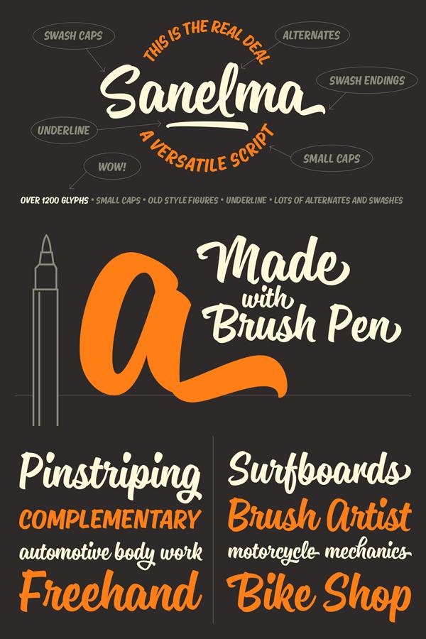 Sanelma – Brush Script Typeface
