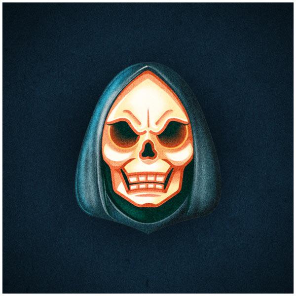 Skeletor portrait illustration by MUTI, a Cape Town, South Africa based design studio.