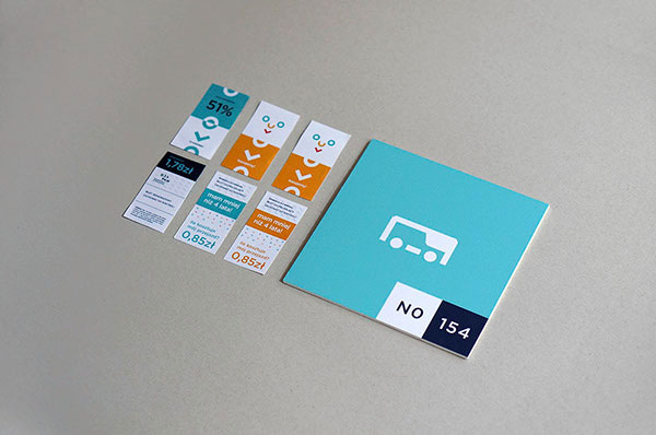 Tickets of the rebranding concept
