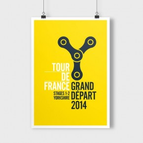 Tour De France 2014 Posters by Broad Creative