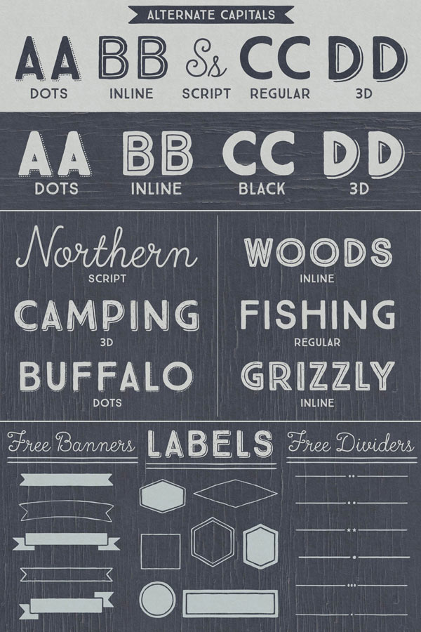 True North – Vintage Typefaces and Ornaments