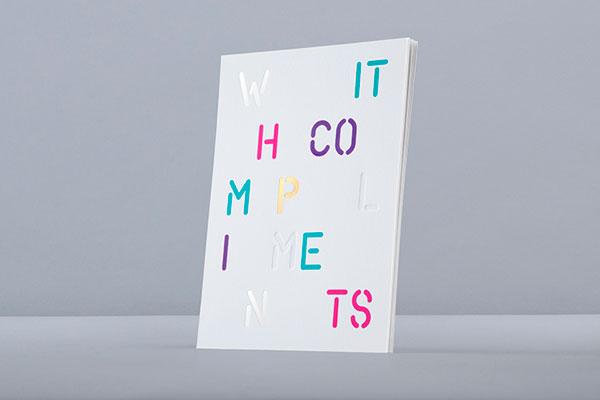 A typographic visual identity.