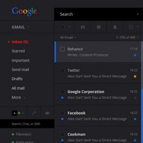 Unofficial Google Gmail Redesign Concept by Ruslan Aliev