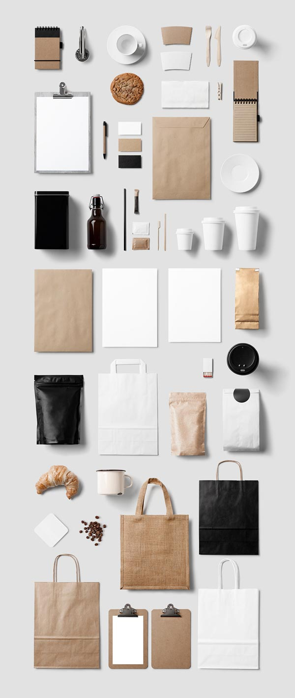 Coffee stationery mockup for Top product design companies