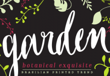 Garden font family, a hand drawn typeface by Mendoza Vergara of the Los Andes foundry.