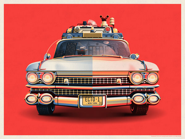 Ghostbusters 30th Anniversary – Ecto-1 Posters by DKNG