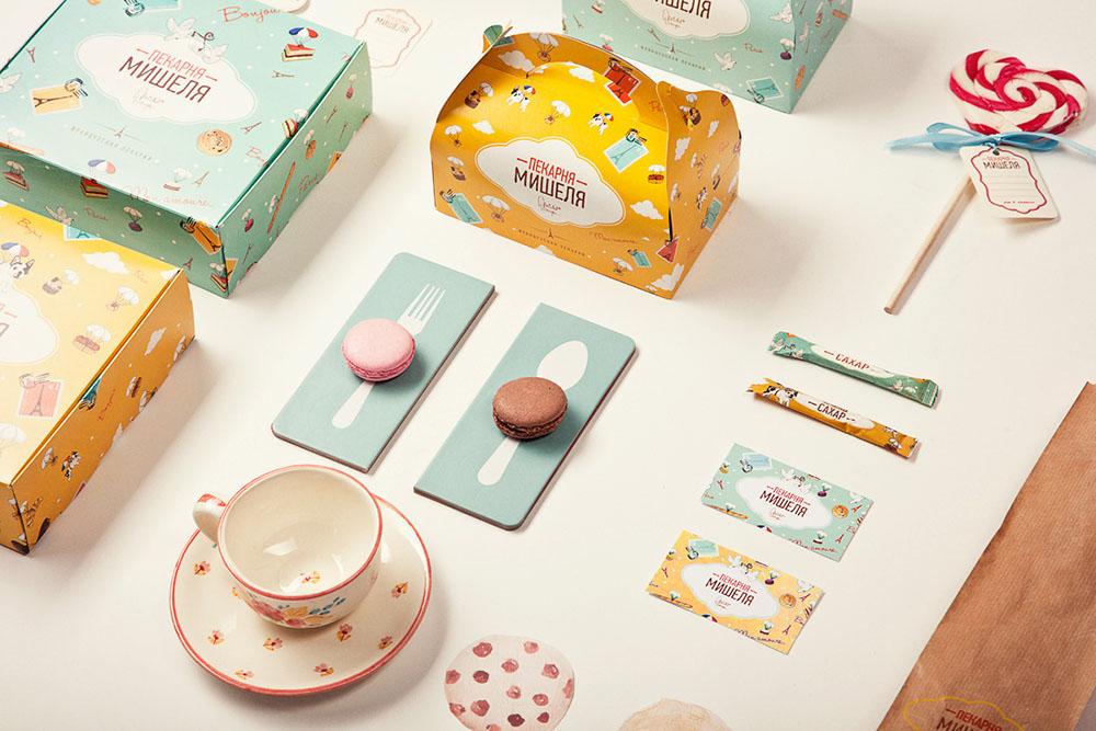 Michelle's Bakery – Brand Illustrations by Anya Aleksandrova