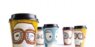 Limited series of souvenir cups created by Backbone Studio for the Gawatt take-out coffee-shop.