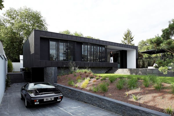 c house near paris france by lode architecture. Black Bedroom Furniture Sets. Home Design Ideas