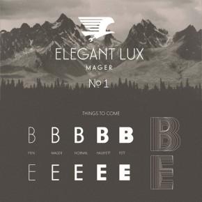 Elegant Lux Mager Font - Free Demo Version