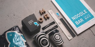Mary Wong packaging and branding material by Fork, a Moscow based design studio.