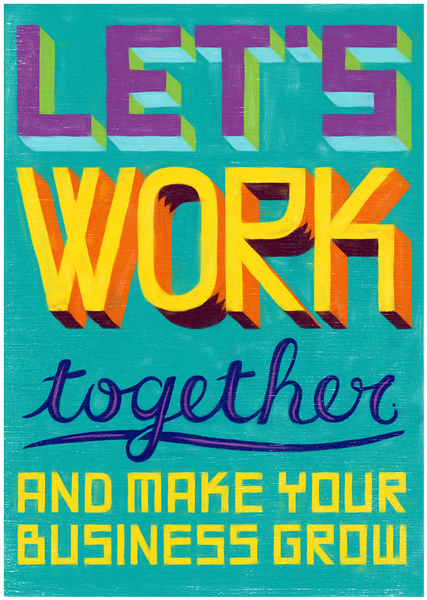 Colurful poster artwork with the aim to motivate disadvantaged South Africans in growing their businesses.