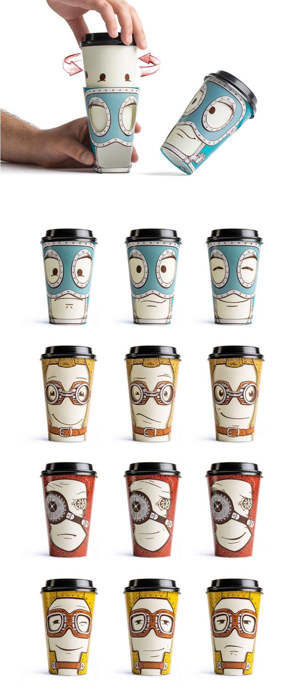 Gawatt Souvenir Cups With Altering Emotions