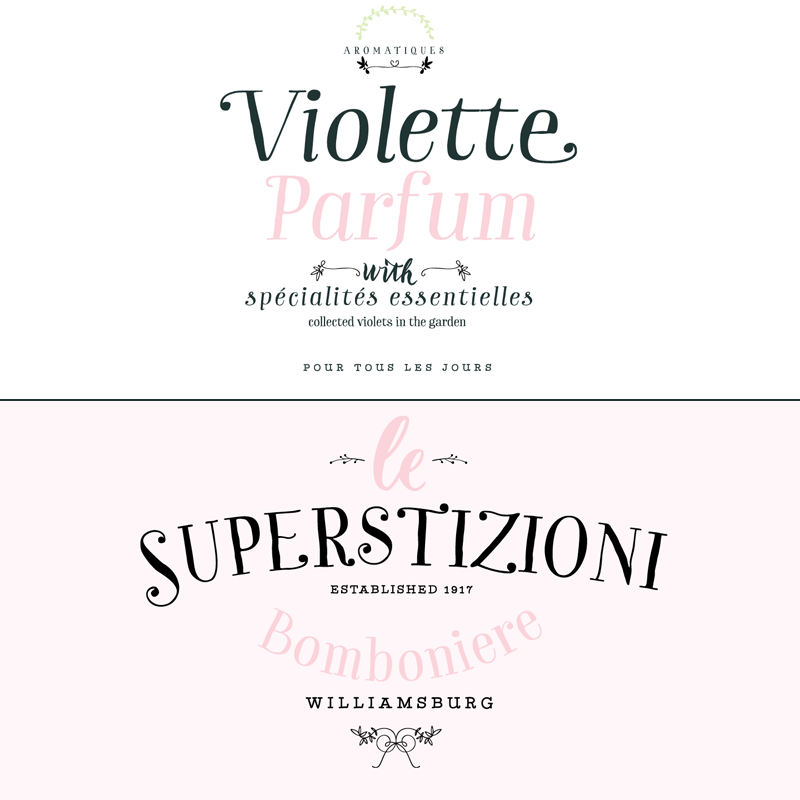 The versatile Garden typeface offers a natural hadwritten style.