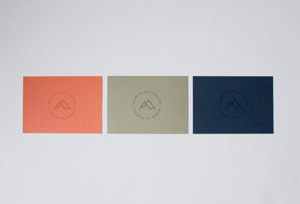 Business cards in 3 colors.