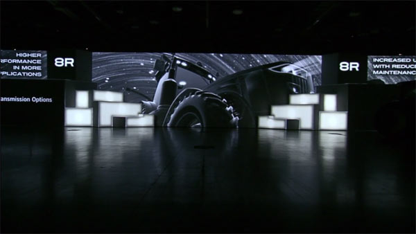 Impressive video installations.