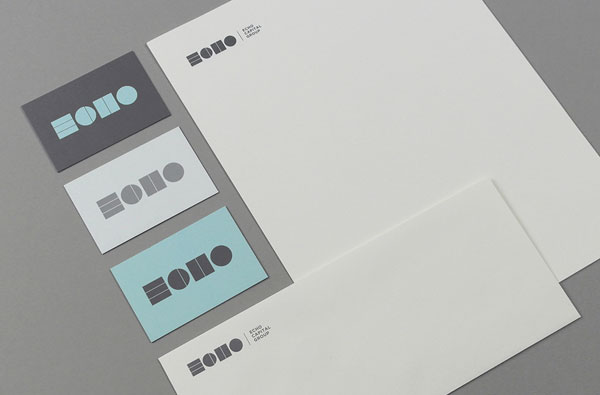 Simple stationery design by studio TRÜF for the Echo Capital Group.