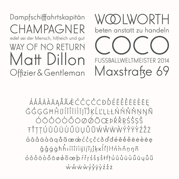 Some samples and characters of the elegant Lux Mager font - free demo version.