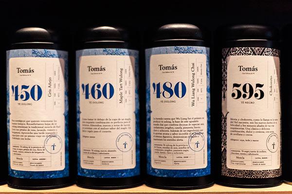 Vintage inspired tea packaging labels.
