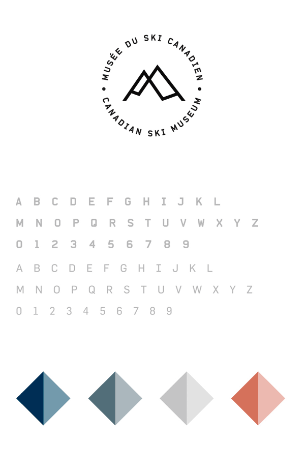 Logo, typeface, and corporate colors.