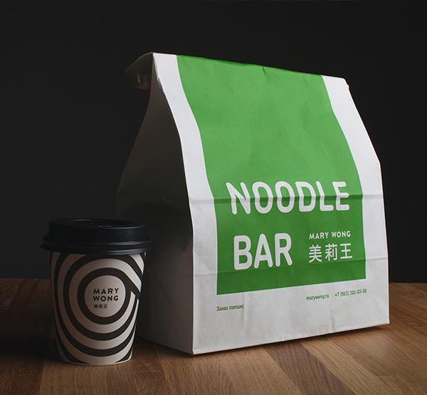 Mary Wong - Noodle bar package design.