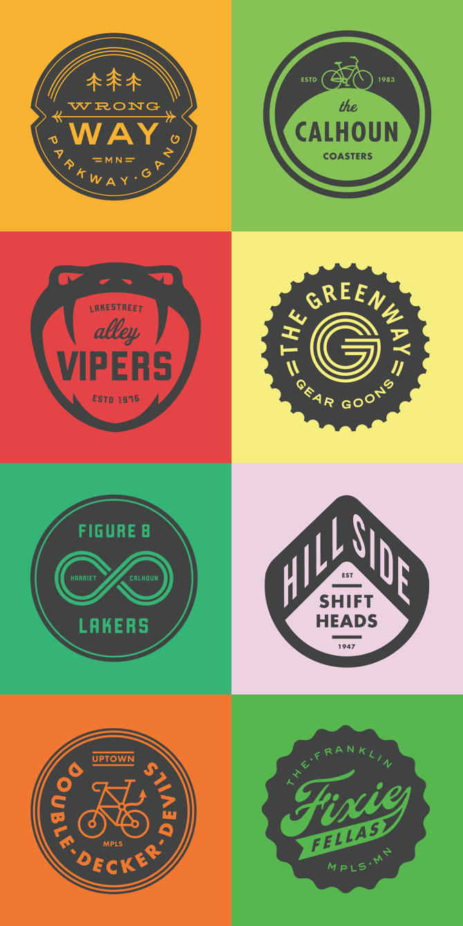 Striking logo collection.