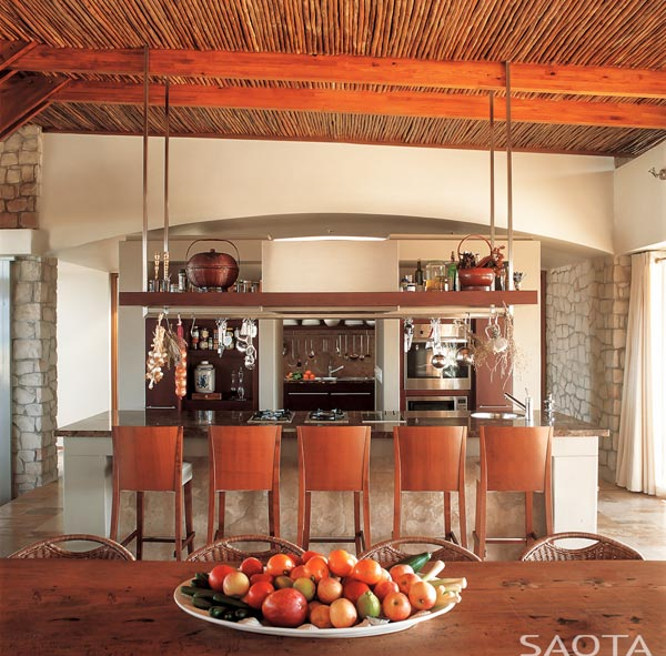 The large open kitchen.