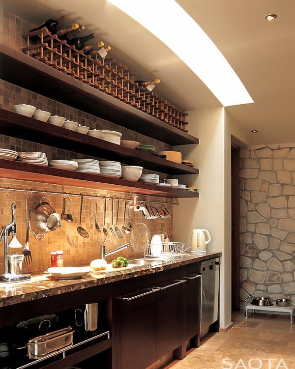 Clean and modern kitchen design.