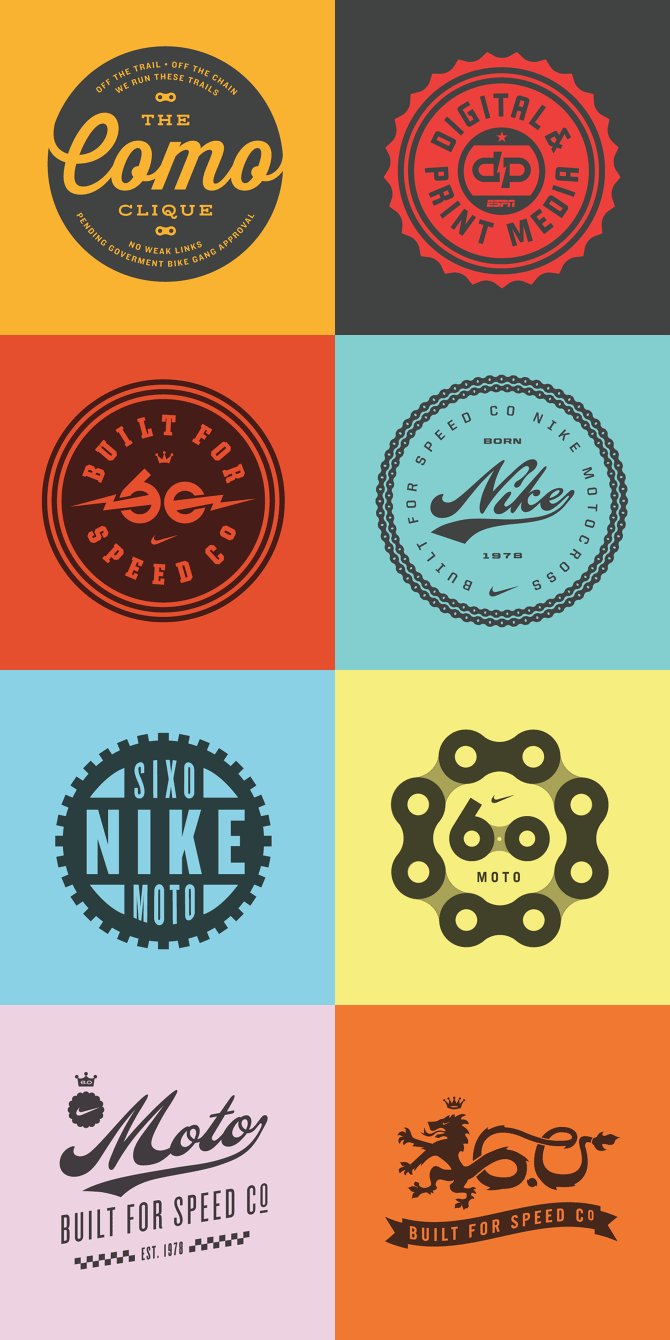 Badges based on simple graphic design.