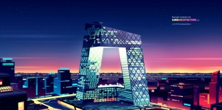 CCTV Headquarters, a 234 m (768 ft), 44-storey skyscraper in the Beijing Central Business District (CBD).