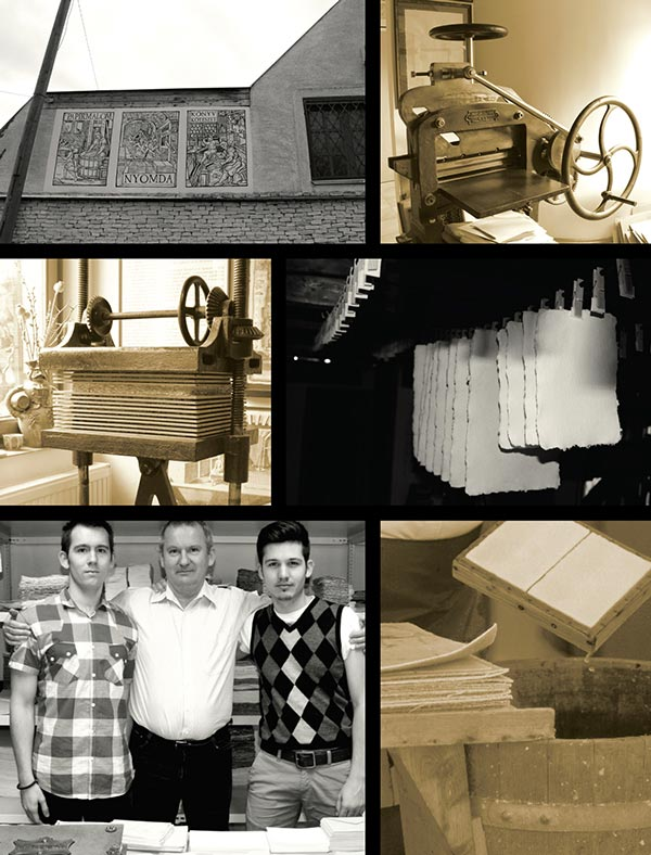 Company imaging - A real family business -  bottom left: László Vincze and his sons.
