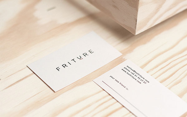 Simple and clean fashion label business cards of the Danish brand.
