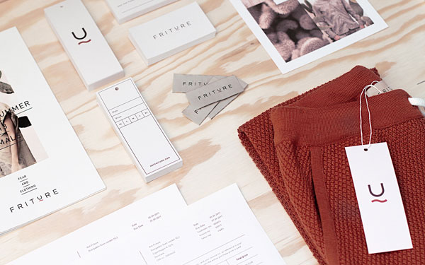 Friture - Danish fashion brand identity by Your Local Studio. Printed collateral and communication design.