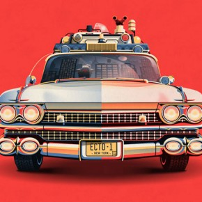 Ghostbusters 30th Anniversary - Ecto-1 Posters by DKNG