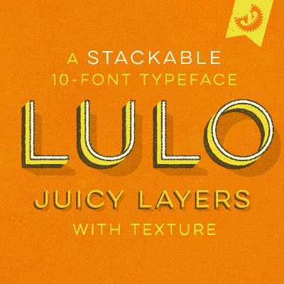 Lulo Font Family - Layered Typeface from Yellow Design Studio