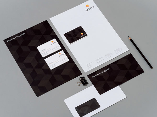 Stationery set of quality management software company BABTEC.