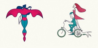That's Amore! - A series of famous character illustrations by Ale Giorgini, a Vicenza, Italy based artist and illustrator